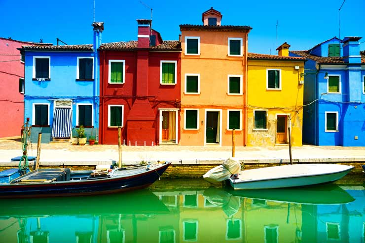 Bunte Häuser Italien